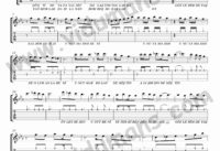 Unutamadim-Gitar-Tab-Solo-Notalari
