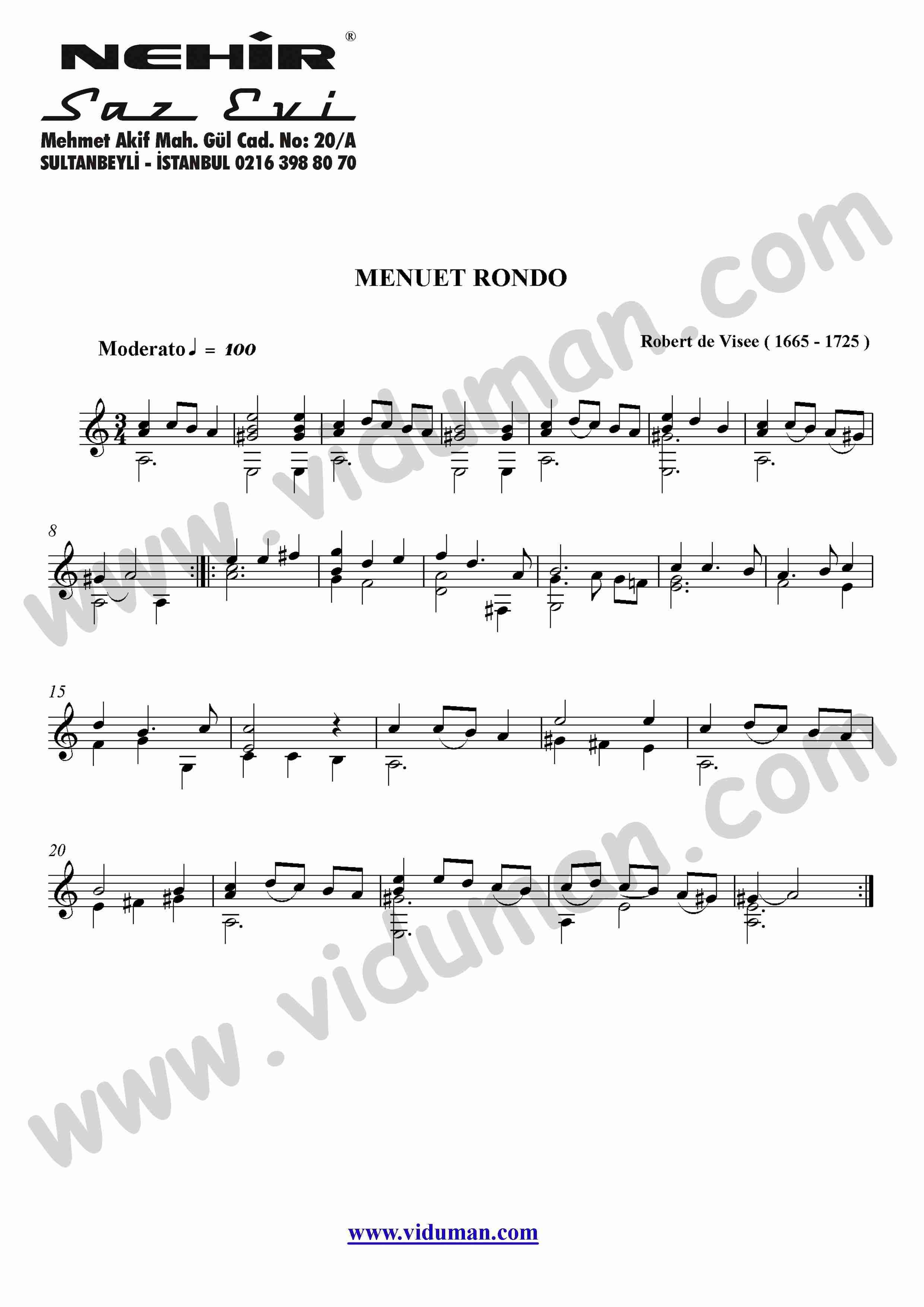 18- Menuet Rondo (Robert De Visee)