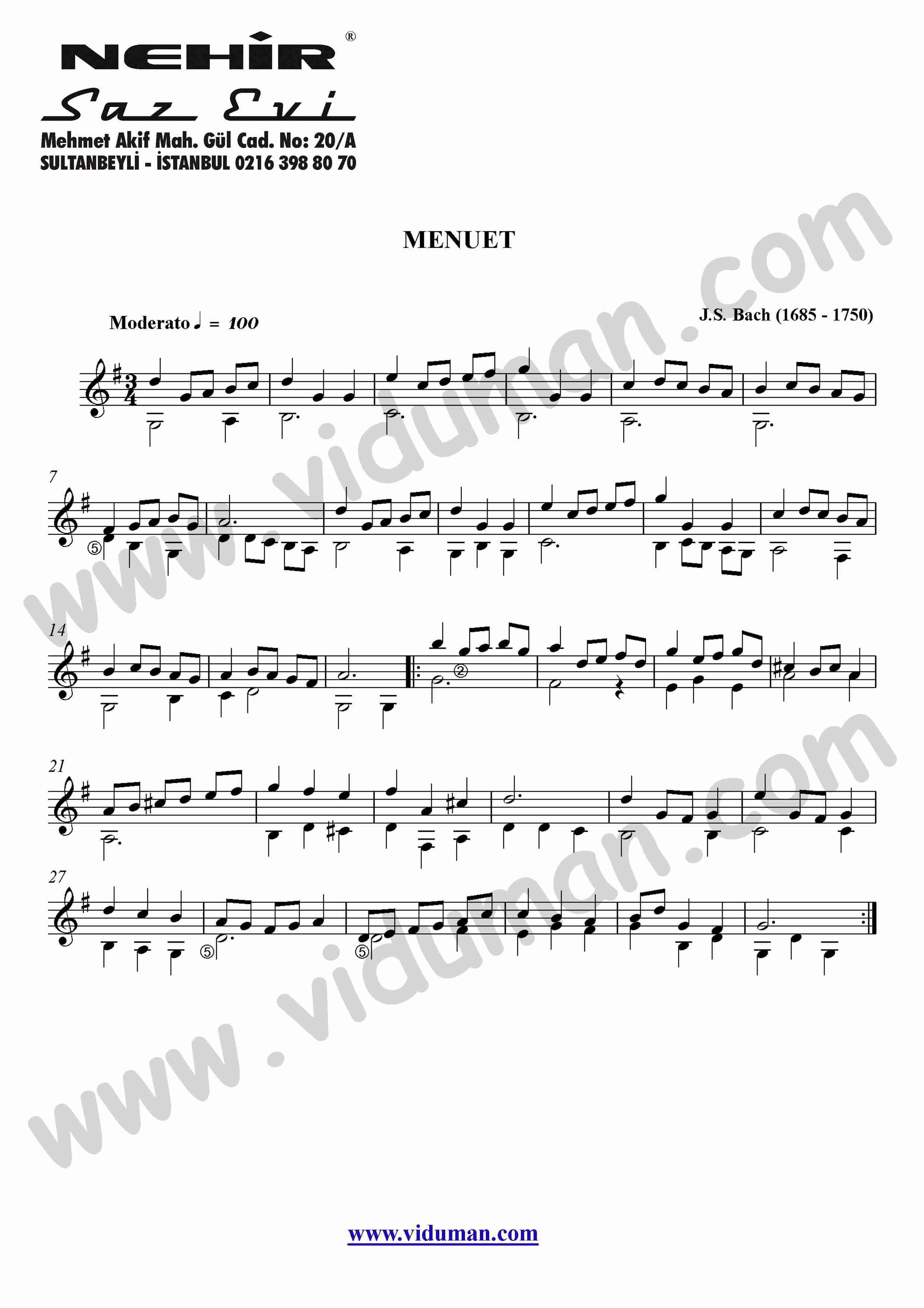 32- Menuet (J.S. Bach)