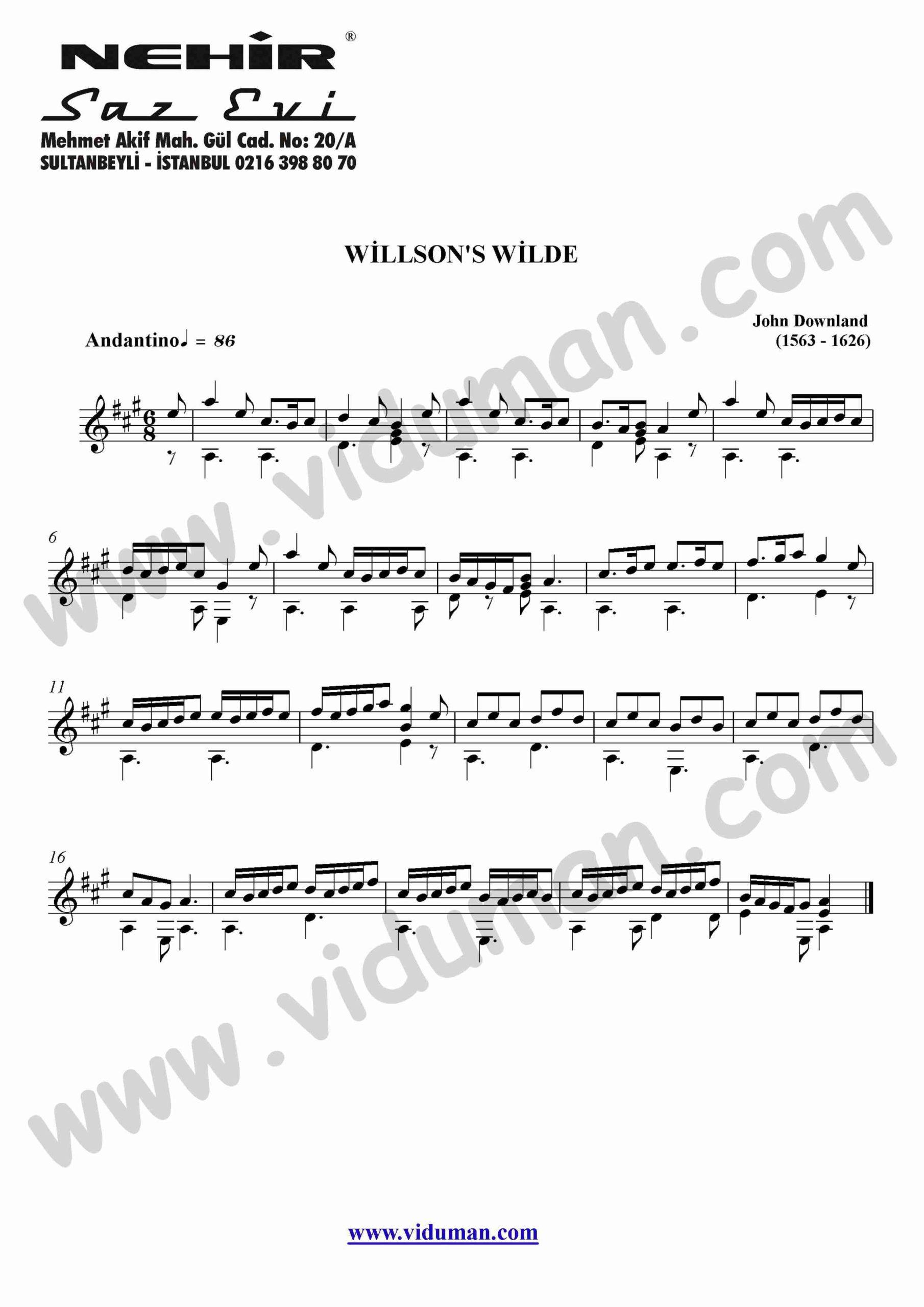 36- Willson's Wilde (John Downland)