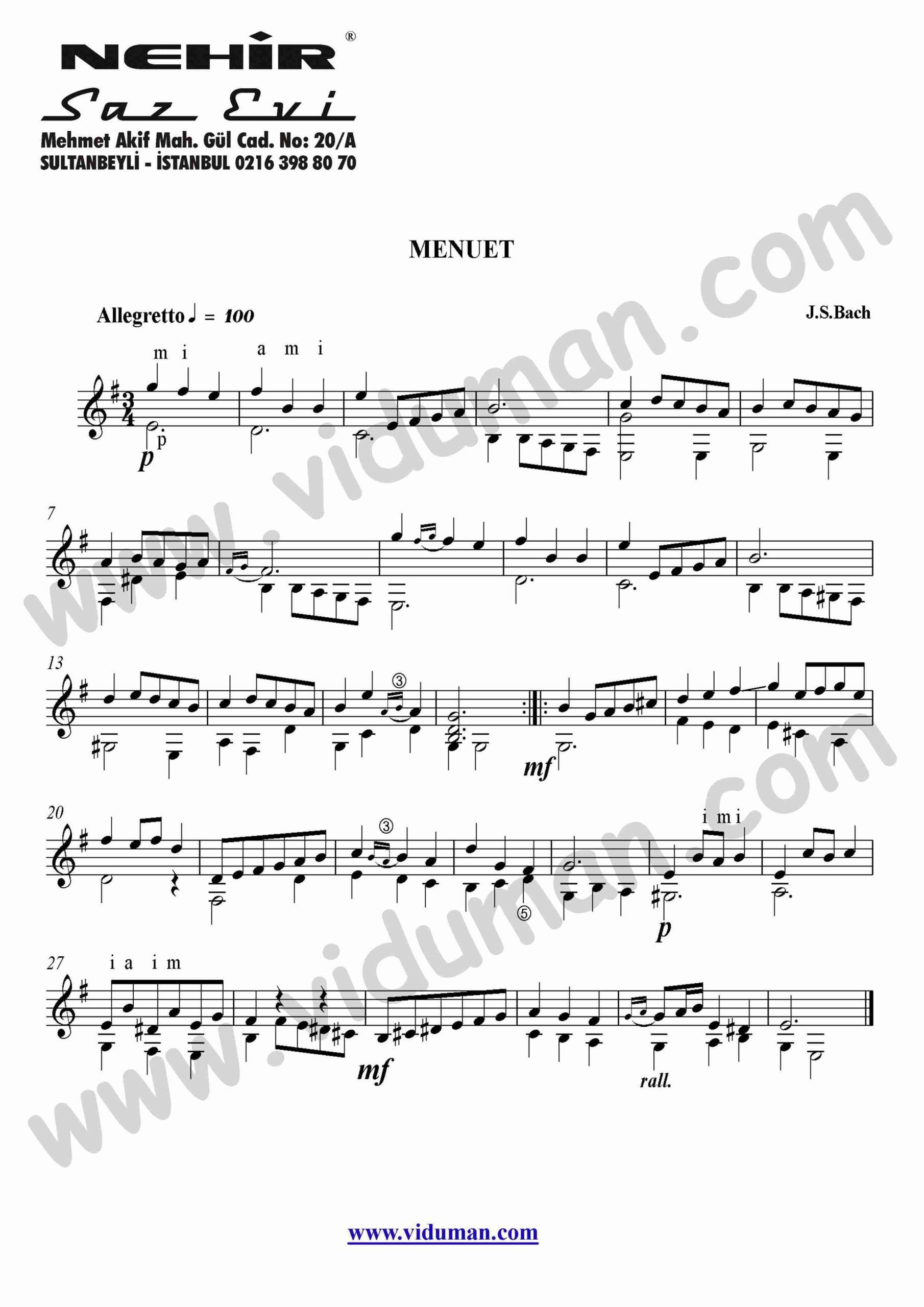 77- Menuet (J.S.Bach)