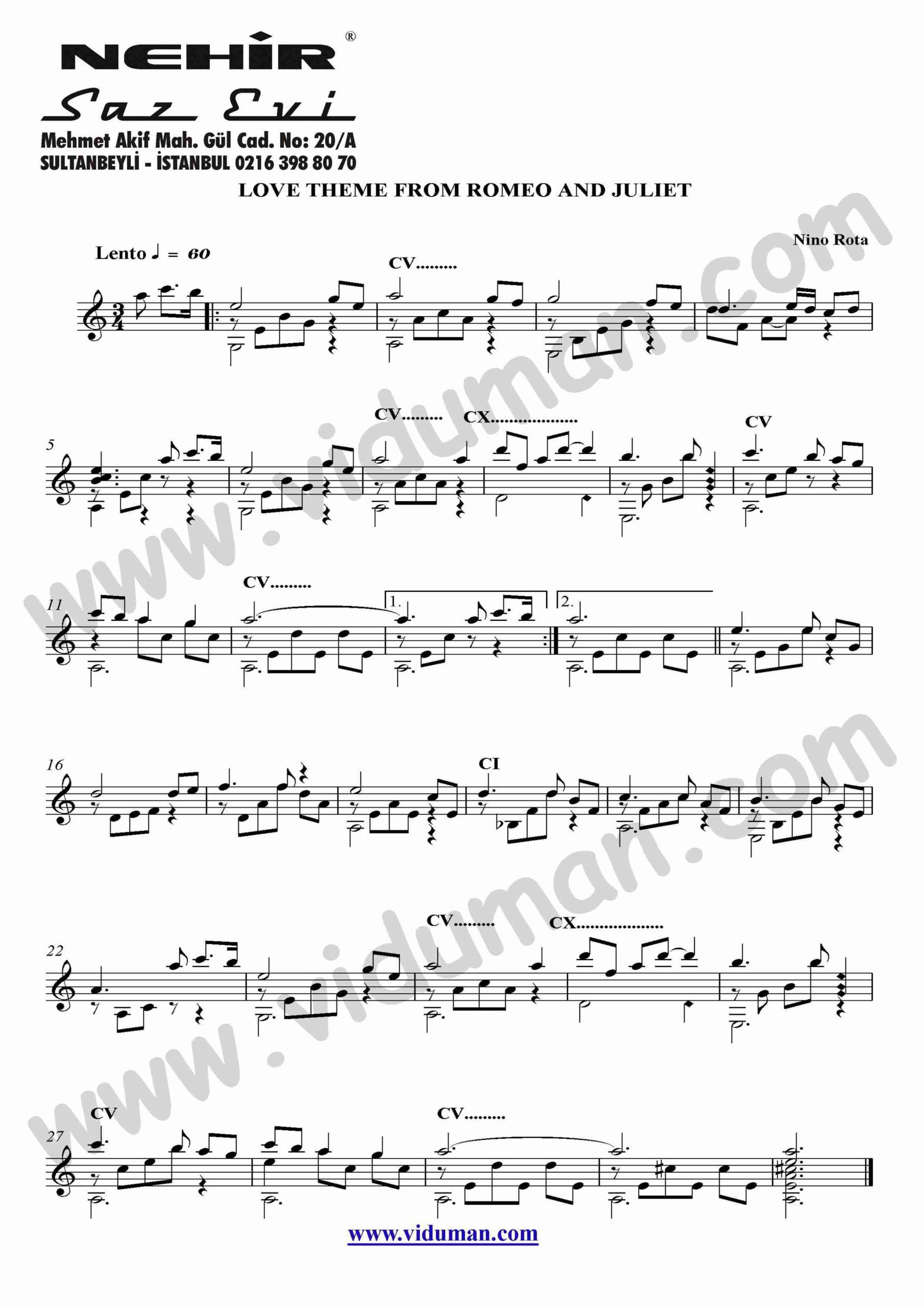 78- Love Theme From Romeo And Juliet (Nino Rota)