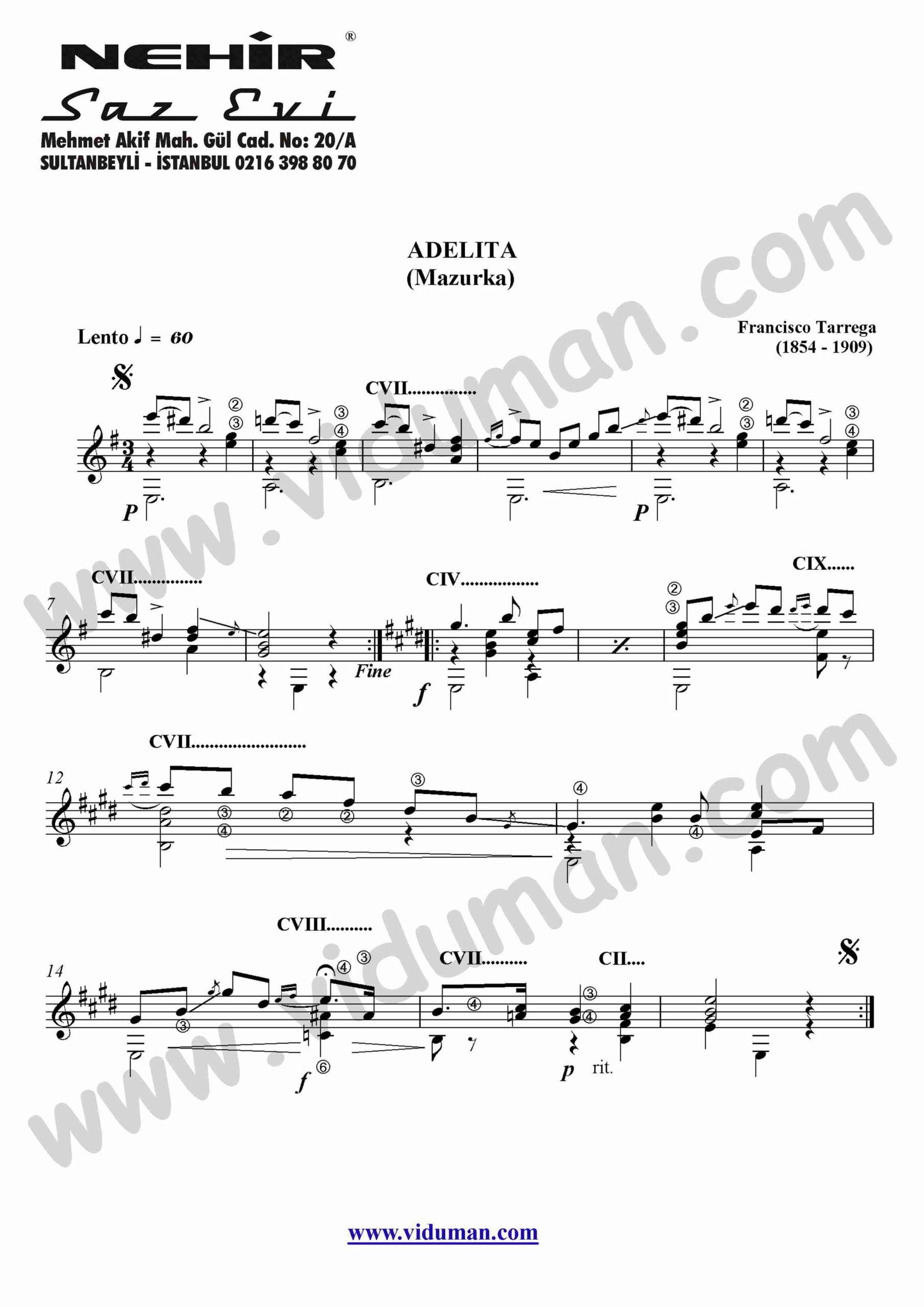 85- Adelita-Mazurka (Francisco Tarrega)