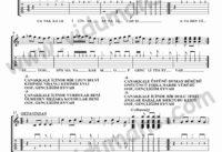 Canakkale Icinde-Gitar-Tab-Solo-Notalari