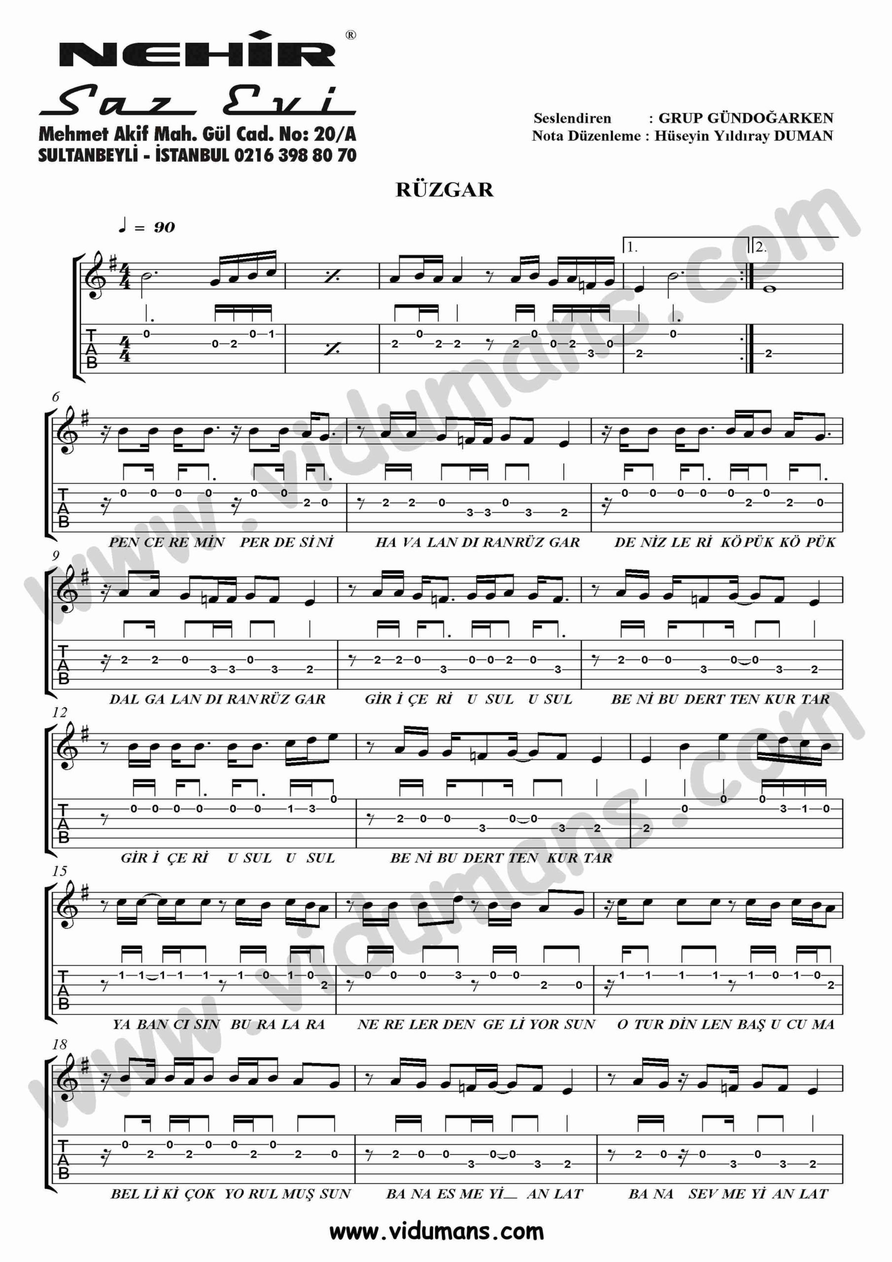 Ruzgar_1-Gitar-Tab-Solo-Notalari