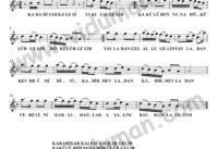 Karahisar Kalesi-Baglama-Saz-Turku Notalari