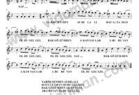 Yarim Senden Ayrilali-Baglama-Saz-Turku-Notalari