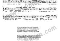 Yigidim Arslanim-Baglama-Saz-Turku-Notalari