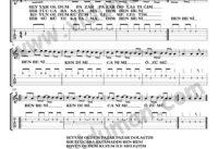Ben Beni-Ahmet Kaya-Gitar Tab-Solo Notalari