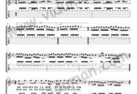 Dost_1-Ahmet Kaya-Gitar Tab-Solo Notalari