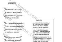 Giderim-Ahmet Kaya-Ritim-Gitar-Akorlari