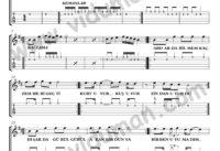 Hasretinden Prangalar Eskittim_1-Ahmet Kaya-Gitar Tab-Solo Notalari