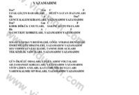 Yazamadim-Ahmet Kaya-Ritim-Gitar-Akorlari