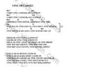 Yine Ortadogu-Ahmet Kaya-Ritim-Gitar-Akorlari